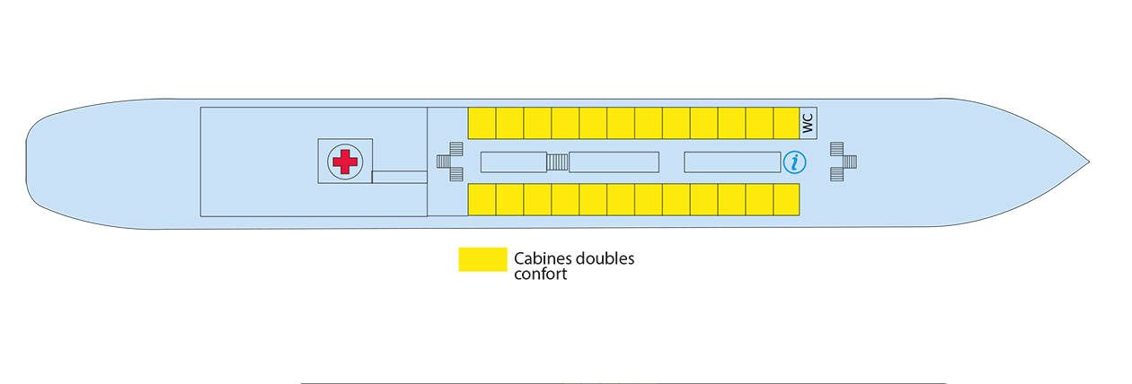 Plan du pont principal du Kronstadt