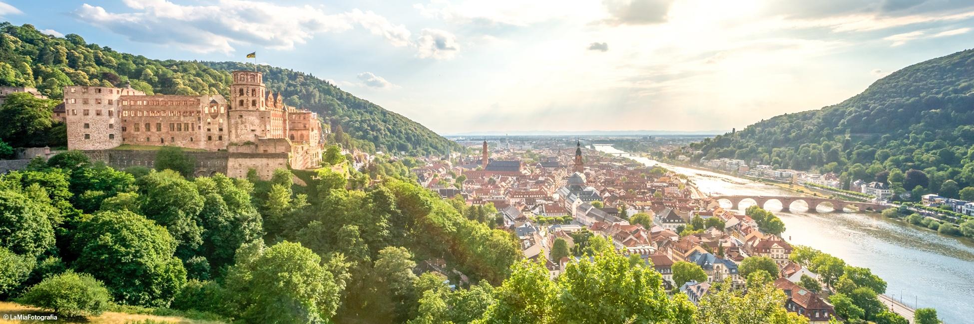 Heidelberg, ville rhénane en Allemagne