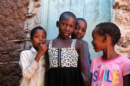 Des enfants en Afrique du sud