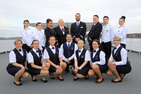 Crew members MS Elbe Princesse II