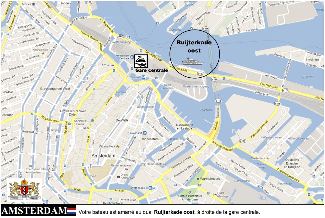 Fiche embarquement croisière Amsterdam