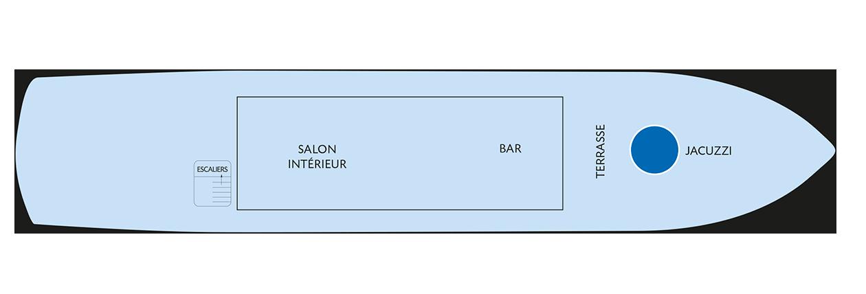 Plan du pont soleil du Zafiro
