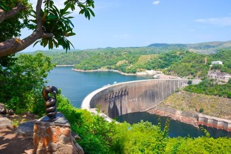 Barrage de Kariba en Afrique